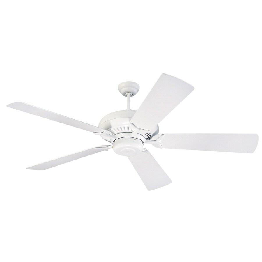 Monte Carlo Fan Company Grand Prix 60-in White Downrod Mount Ceiling Fan ENERGY STAR