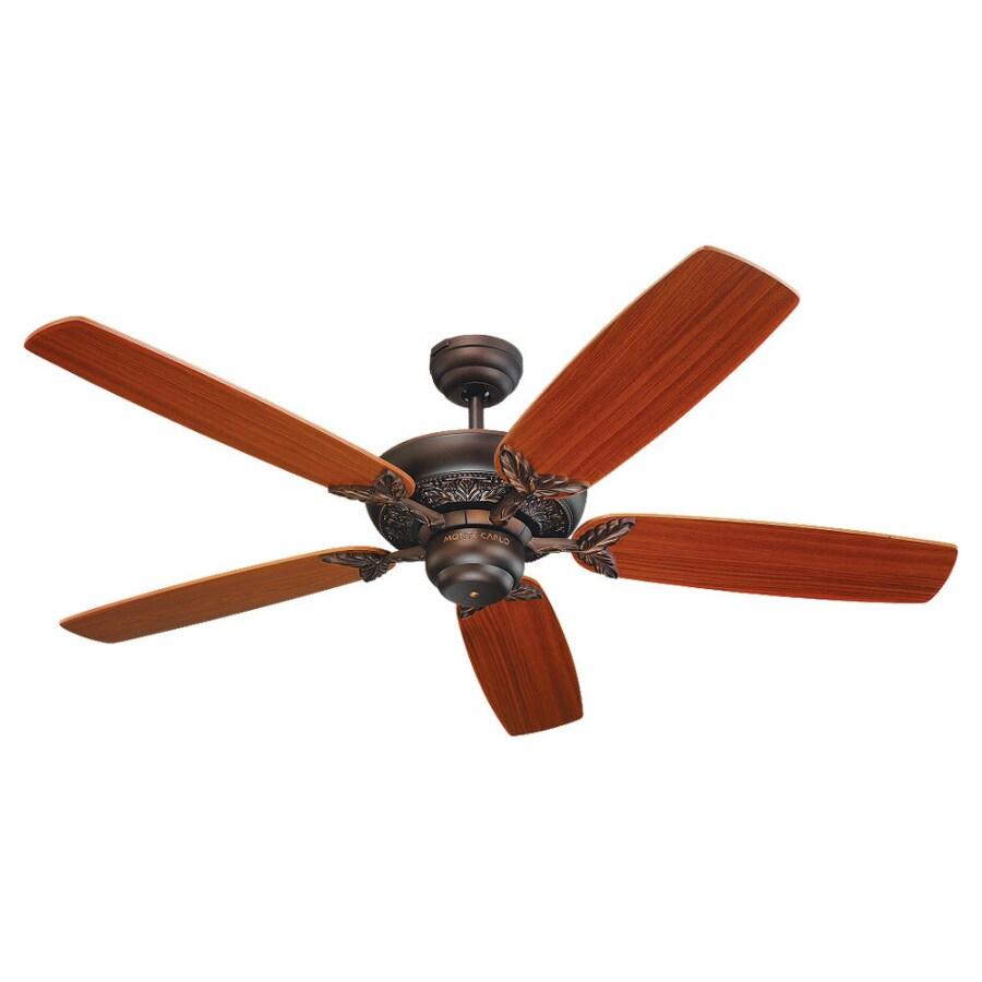 Monte Carlo Fan Company Mansion 52-in Roman Bronze Multi-Position Ceiling Fan ENERGY STAR