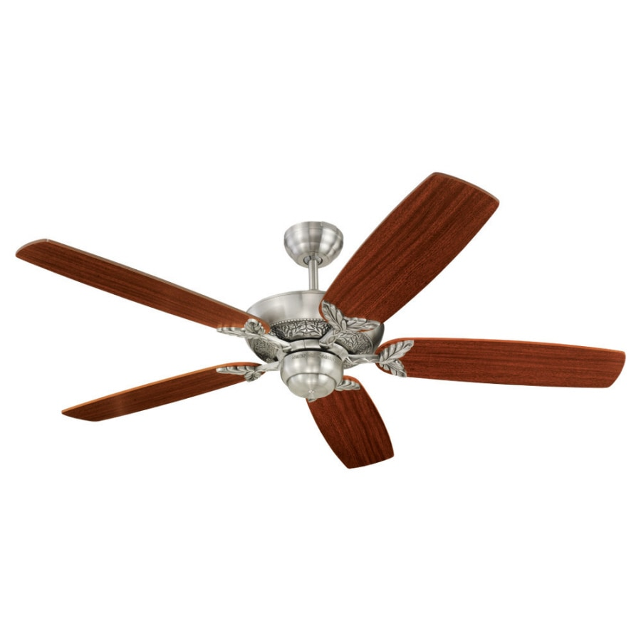 Monte Carlo Fan Company 52-in Mansion English Pewter Ceiling Fan ENERGY STAR
