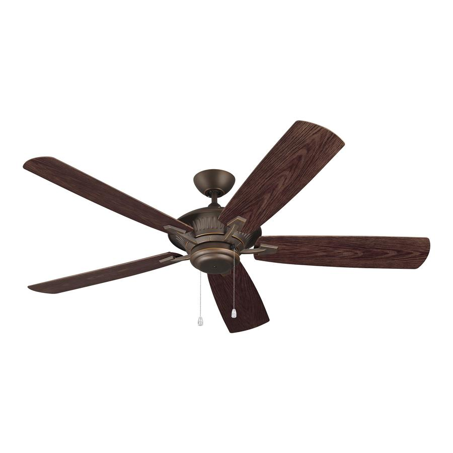 Monte Carlo Fan Company Cyclone 60-in Roman Bronze Downrod Mount Ceiling Fan ENERGY STAR