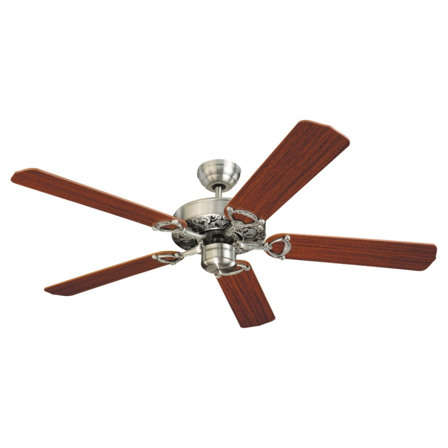 Monte Carlo Fan Company 52-in Ornate English Pewter Ceiling Fan