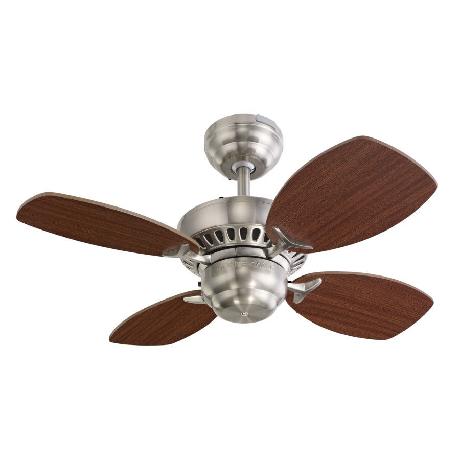 Monte Carlo Fan Company Colony II 28-in Brushed Steel Multi-Position Ceiling Fan (4-Blade)