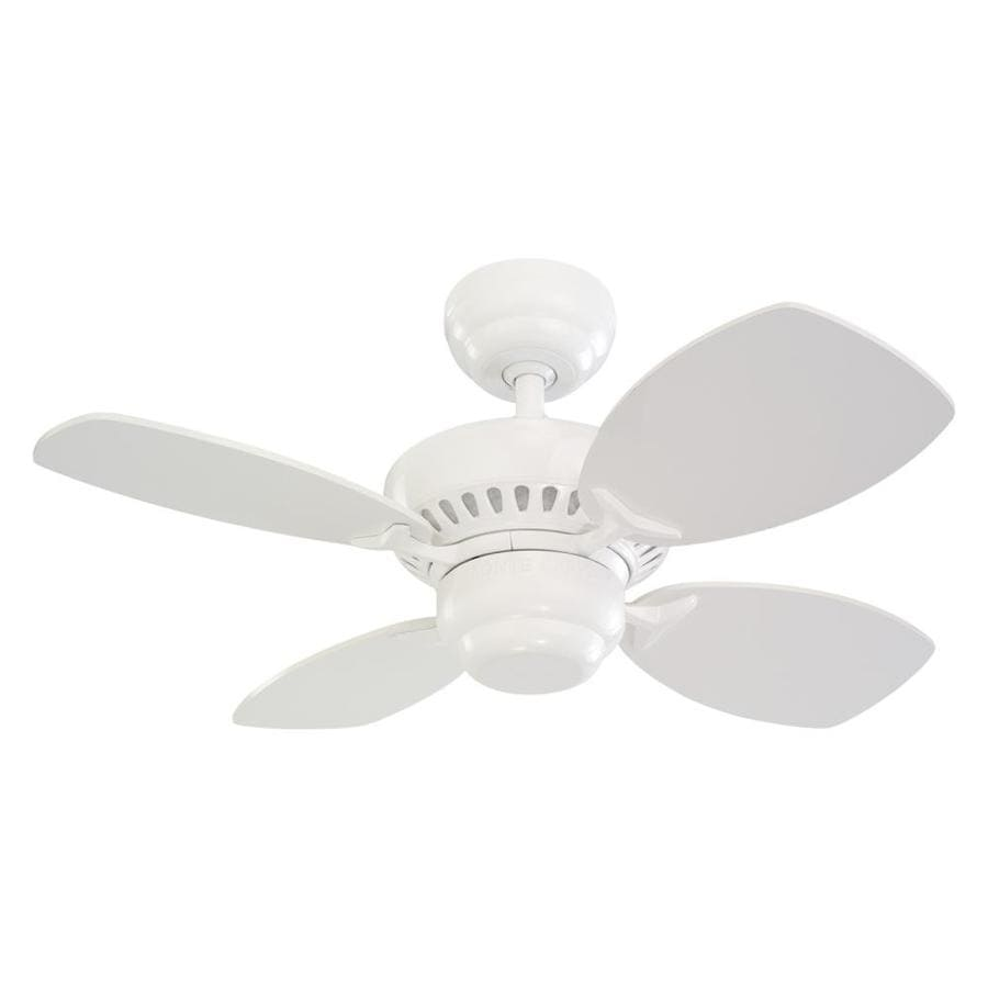 Monte Carlo Fan Company Colony II 28-in White Multi-Position Ceiling Fan (4-Blade)