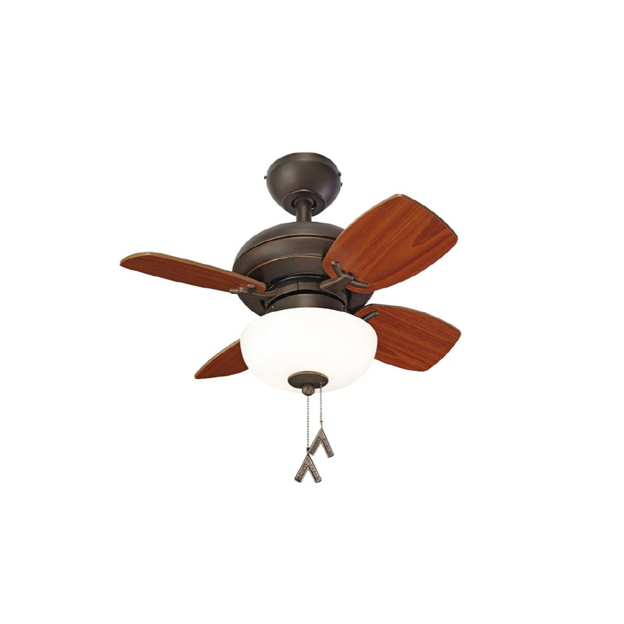 "shop allen + roth 24"" roman bronze ceiling fan at lowes"