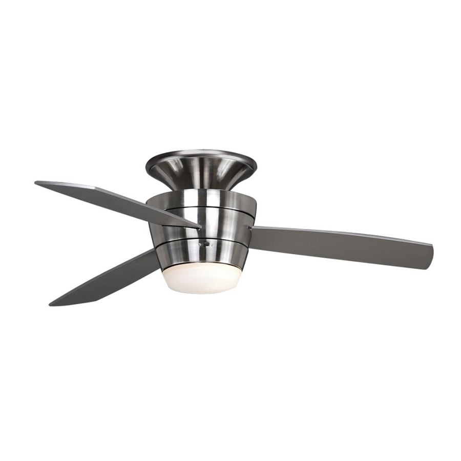 "shop allen + roth 44"" mazon brushed steel ceiling fan at lowes"