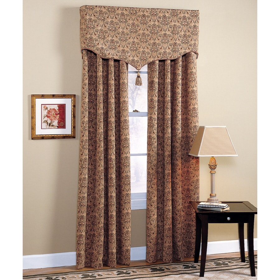 Style Selections Chateau 84-in Multi Polyester Rod Pocket Light Filtering Standard Lined Single Curtain Panel