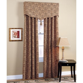 Style Selections Chateau 84-in Polyester Rod Pocket Light Filtering Standard Lined Single Curtain Panel