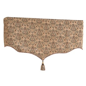 Style Selections Chateau Tapestry 21-in Multicolor Polyester Rod Pocket Valance