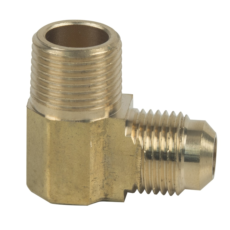 BrassCraft 3/8-in x 3/8-in Threaded Flare x MIP Adapter Elbow Fitting