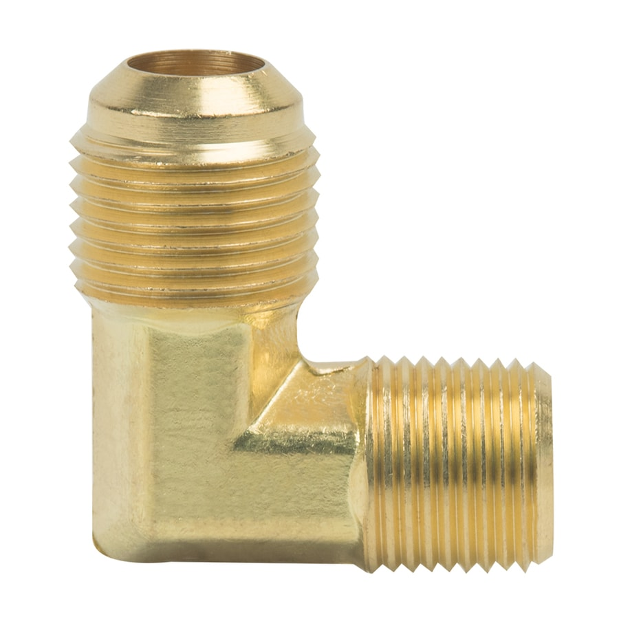 BrassCraft 1/2-in x 3/8-in Threaded Flare x MIP Adapter Elbow Fitting