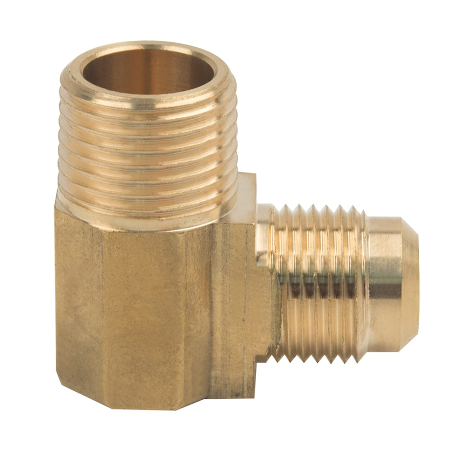 BrassCraft 1/2-in x 1/2-in Threaded Flare x MIP Adapter Elbow Fitting