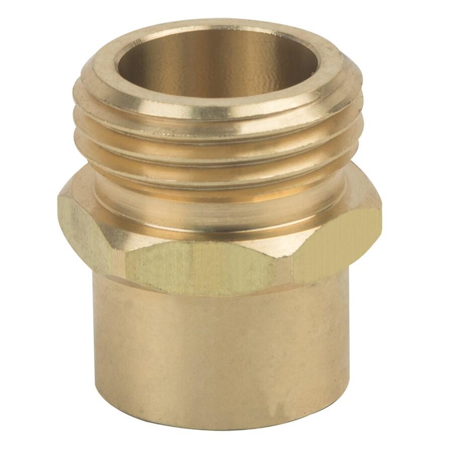 BrassCraft 1/2-in x 3/4-in Threaded Male Hose x FIP Adapter Fitting