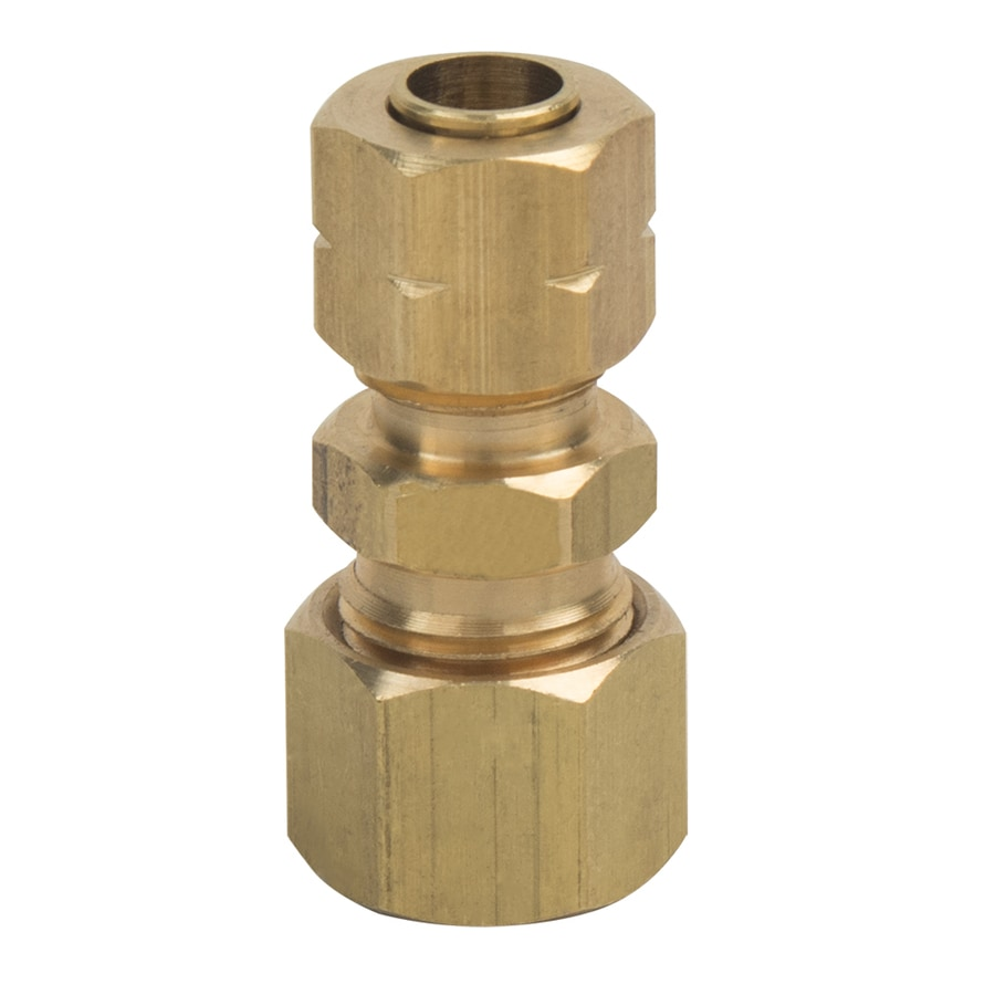 BrassCraft 5/16-in x 1/4-in Compression Reducing Union Coupling Fitting