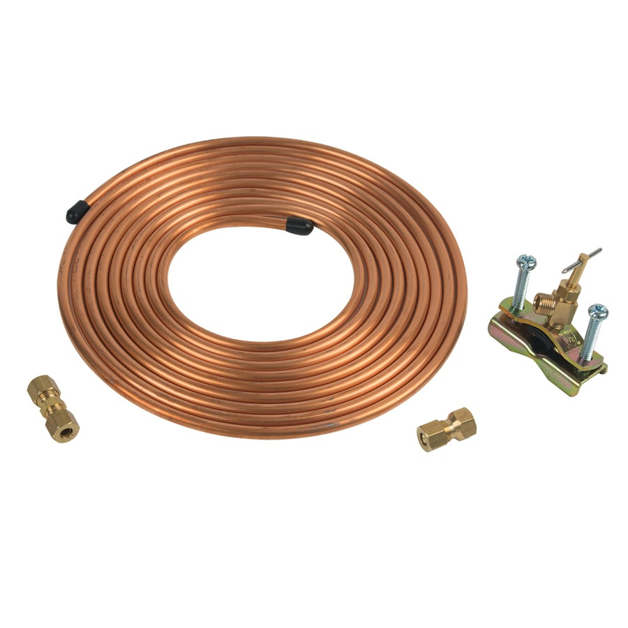 BrassCraft 15-ft L 1/4-in O.D. Inlet x 1/4-in O.D. Outlet Copper Ice Maker Installation Kit