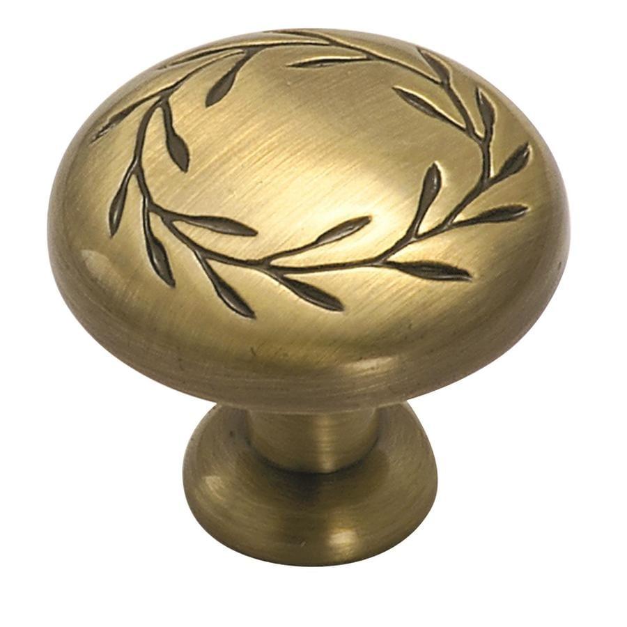 Amerock Inspirations Elegant Brass Round Cabinet Knob