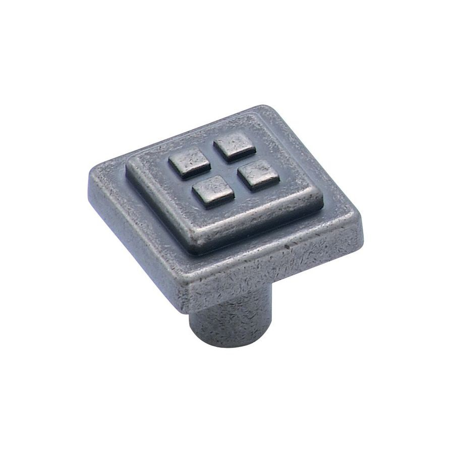 Amerock Forgings Weathered Nickel Square Cabinet Knob