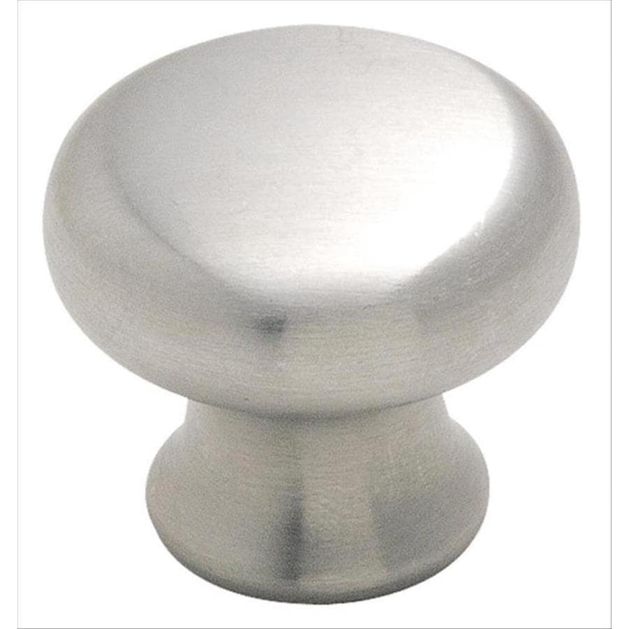 Amerock Stainless Steel Stainless Steel Round Cabinet Knob