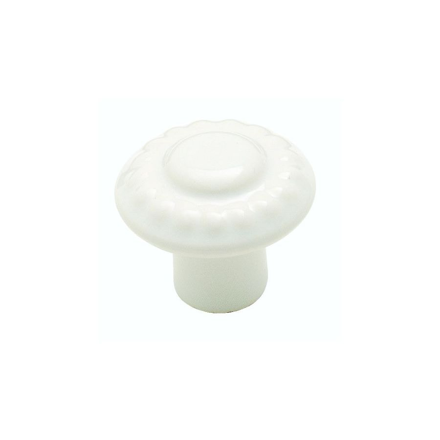 Amerock Colour Washed Ceramics White Round Cabinet Knob