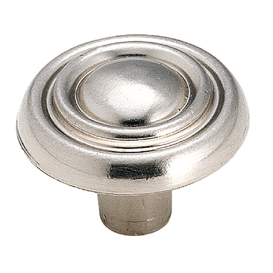 Amerock Brass and Sterling Sterling Nickel Round Cabinet Knob