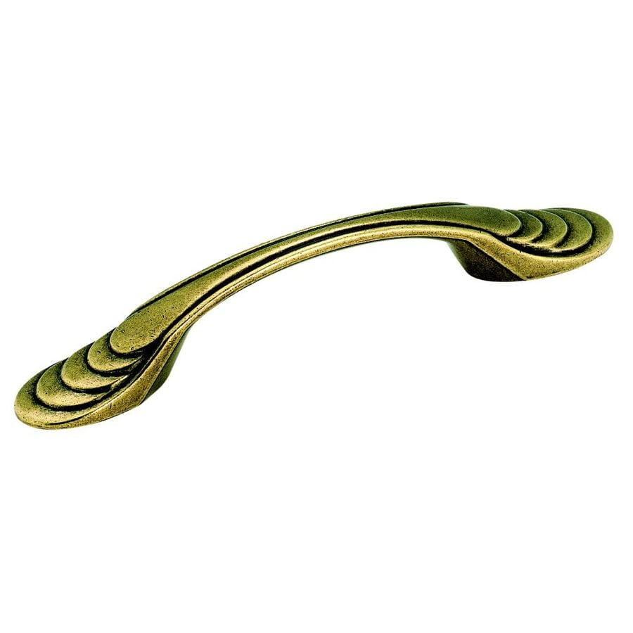 Amerock 3-in Center-To-Center Burnished Brass TrueElegance Bar Cabinet Pull