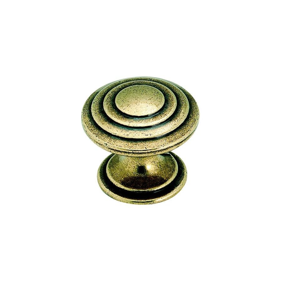 Amerock True Elegance Burnished Brass Round Cabinet Knob