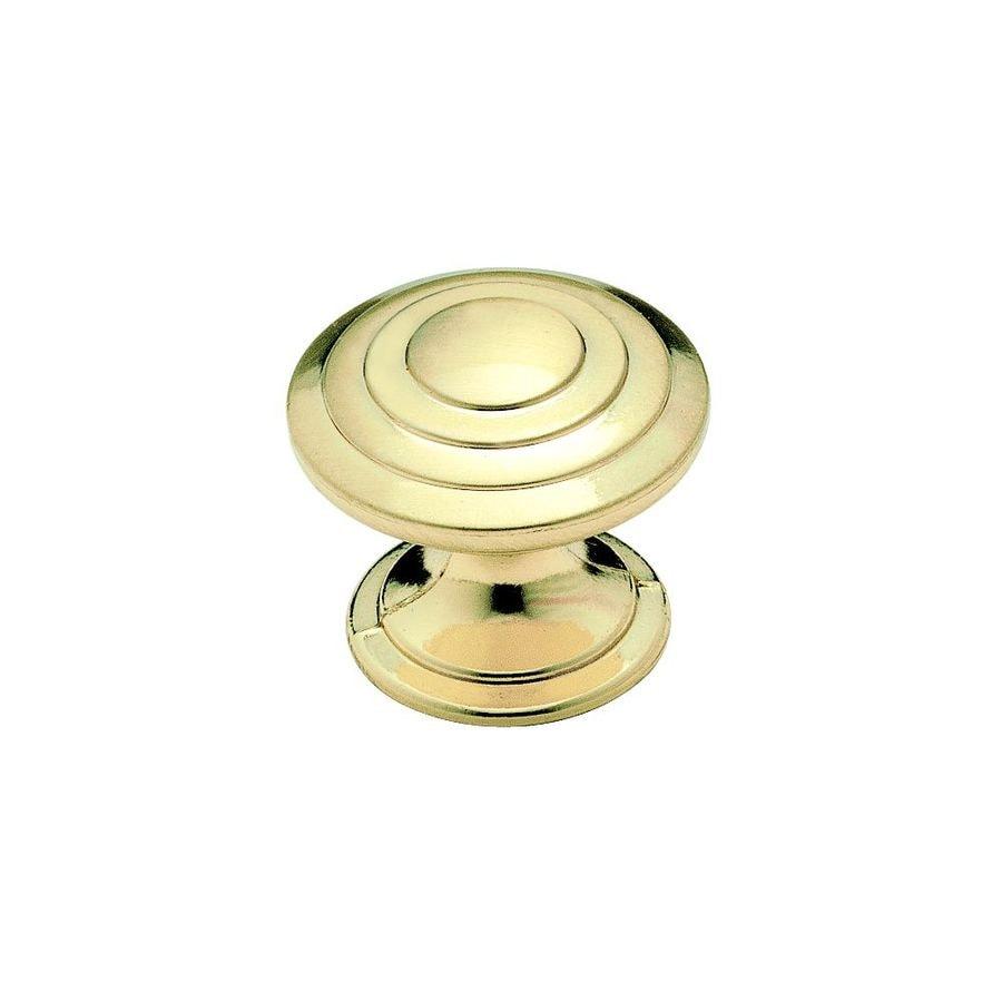 Amerock True Elegance Brushed Brass Round Cabinet Knob