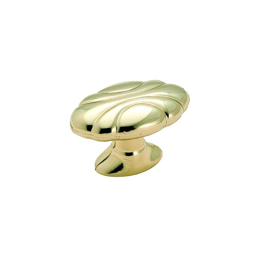 Amerock Radiance Polished Brass Oval Cabinet Knob