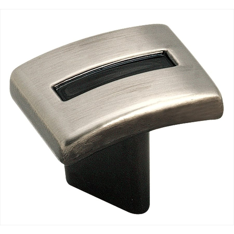 Amerock Evolutions Distressed-Rustic Pewter Square Cabinet Knob