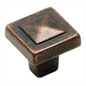 Amerock BP4429 Forgings 1-1/8u0022 Square Cabinet Knob - Rustic Bronze