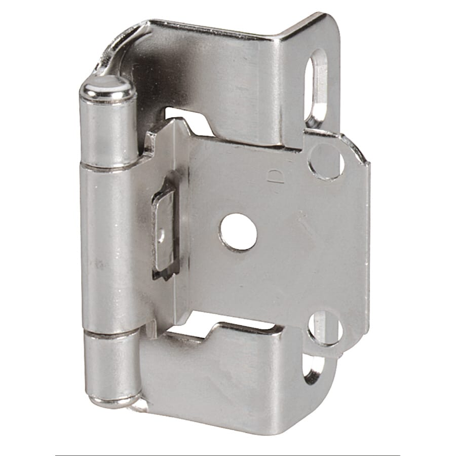 Amerock 1/2-in x 1-7/8-in Nickel Self-Closing Cabinet Hinge