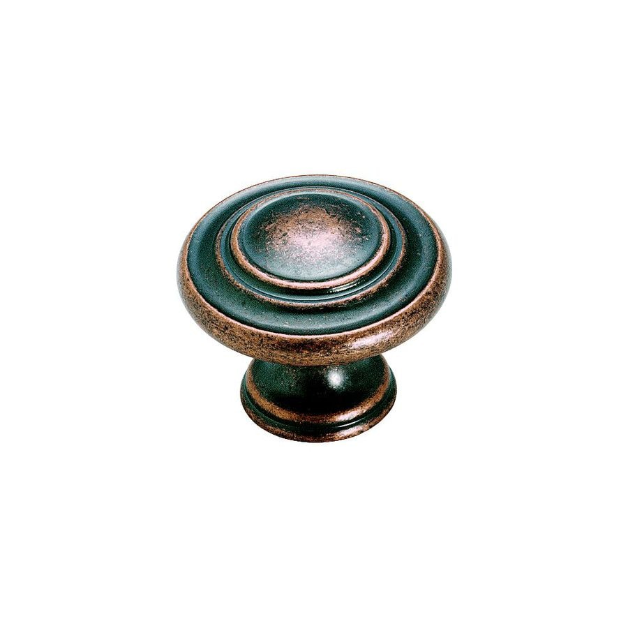 Amerock Inspirations Weathered Copper Round Cabinet Knob