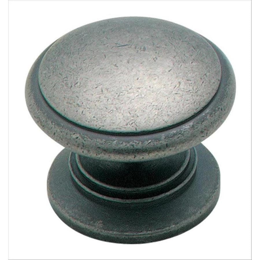 Amerock Hint Of Heritage Weathered Nickel Round Cabinet Knob