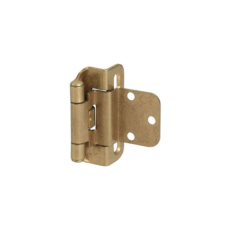 Amerock 1-1/2-in x 1-1/2-in Burnished Brass Self-Closing Cabinet Hinge