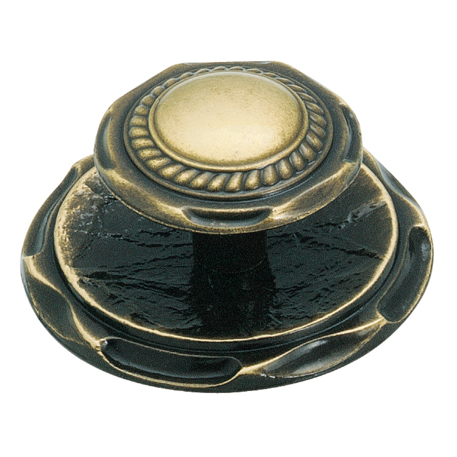 "Amerock CLASSIC ACCENT CARRIAGE  KNOB/BACKPLATE, 2"" DIAMETER"