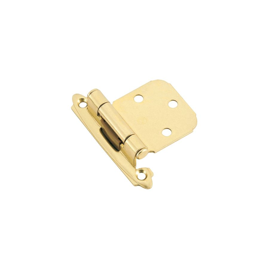 Amerock 2-Pack 1-1/2-in x 1-1/2-in Polished Brass Self-Closing Cabinet Hinges