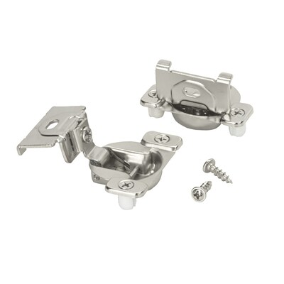 2-Pack 1-1/4-in Brushed Silver Self-Closing Concealed Cabinet Hinge