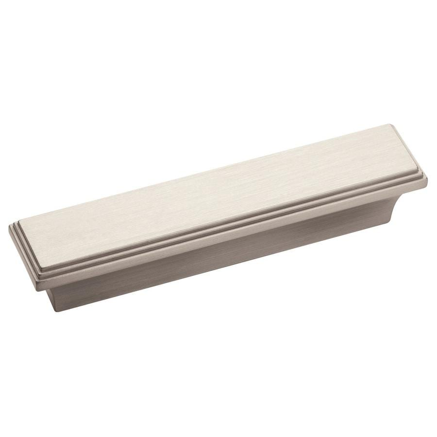 Amerock 3-in Center-To-Center Satin Nickel Manor Rectangular Cabinet Pull
