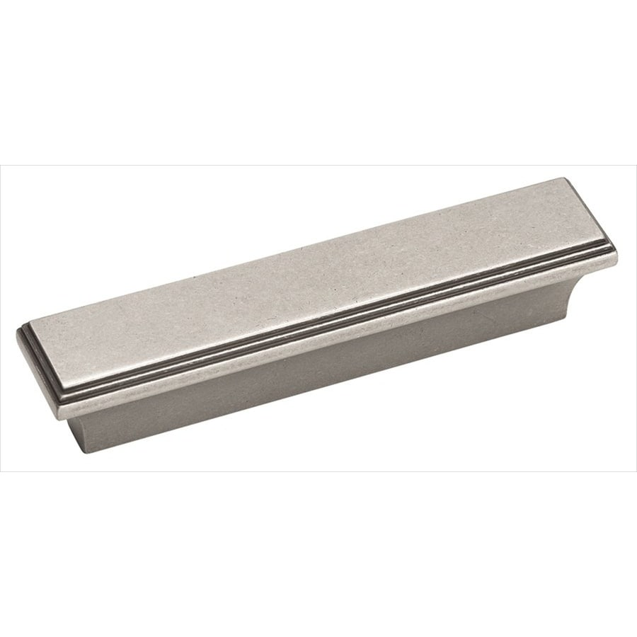 Amerock 3-in Center-To-Center Weathered Nickel Manor Rectangular Cabinet Pull
