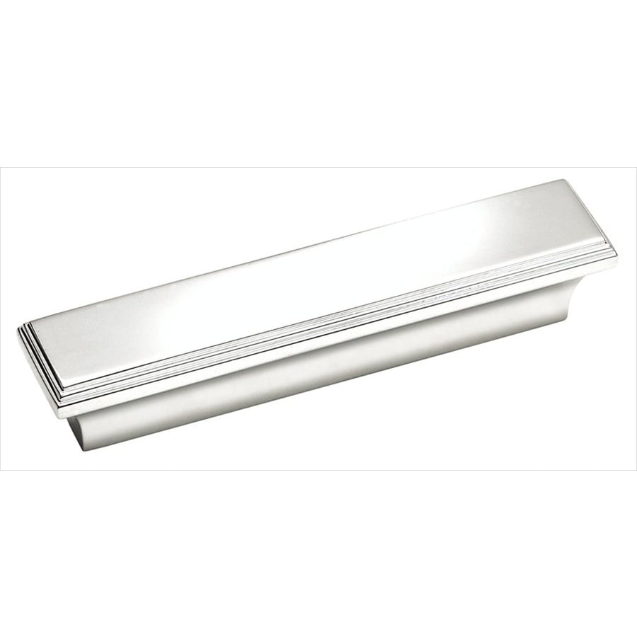 Amerock 3-in Center-to-Center Polished Chrome Manor Rectangular Cabinet Pull