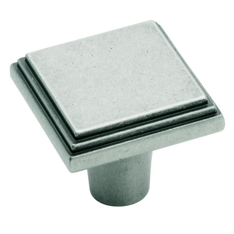 Amerock Manor Weathered Nickel Square Cabinet Knob