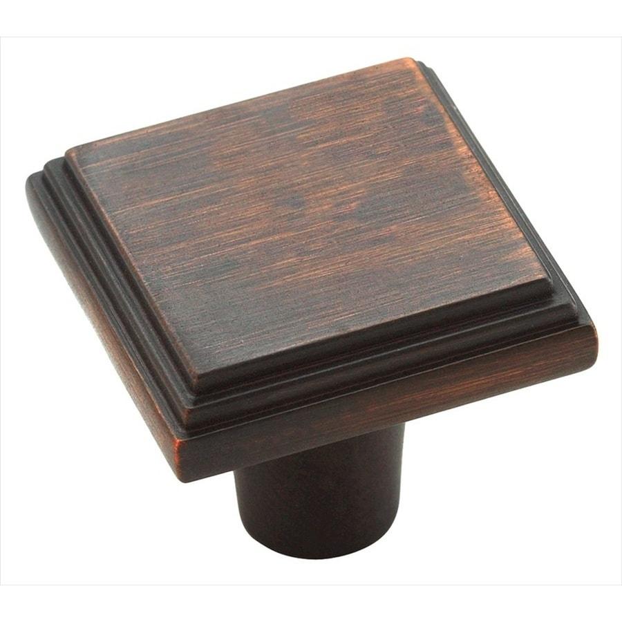 Amerock Manor Oil-Rubbed Bronze Square Cabinet Knob