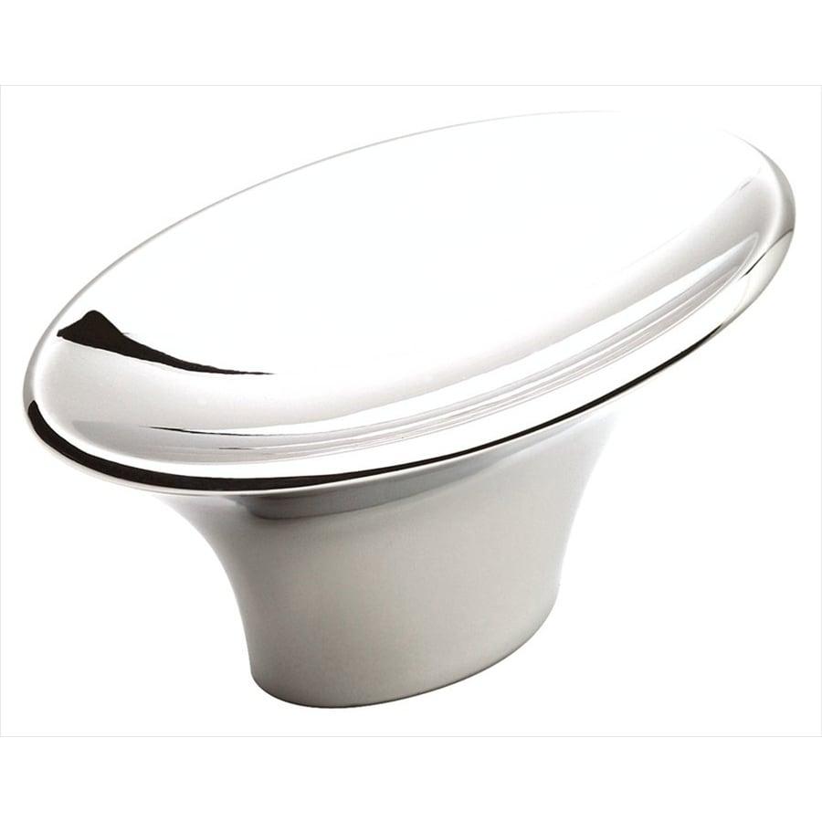 Amerock Sleek Polished Chrome Oval Cabinet Knob