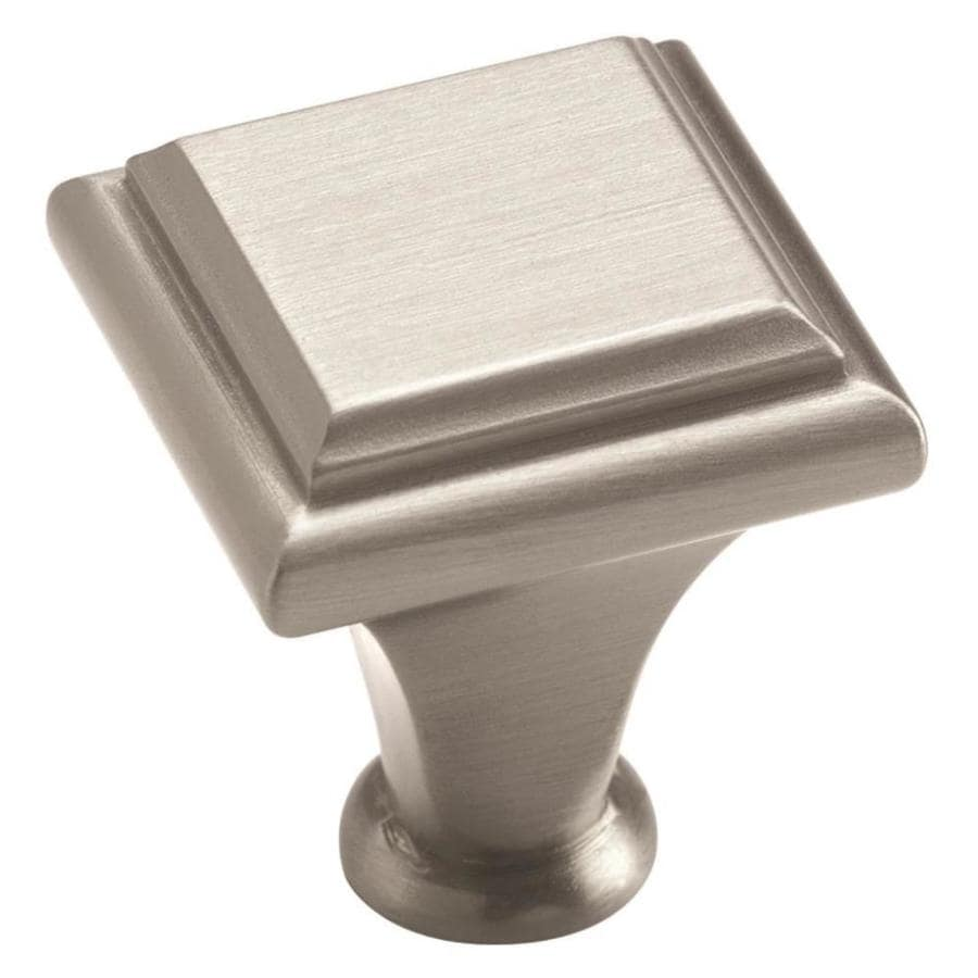 Amerock Manor Satin Nickel Square Cabinet Knob