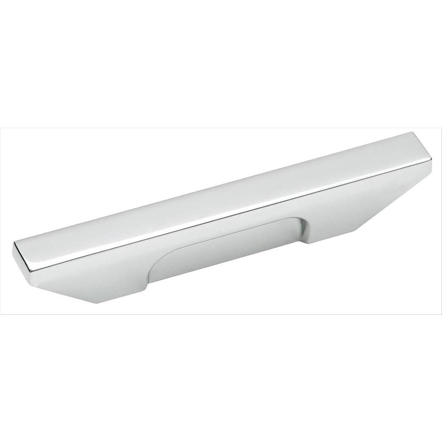 Amerock 3-in Center-To-Center Polished Chrome Sleek Rectangular Cabinet Pull
