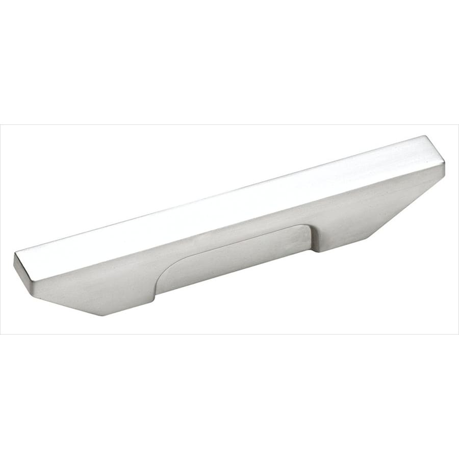 Amerock 3-in Center-To-Center Brushed Chrome Sleek Rectangular Cabinet Pull
