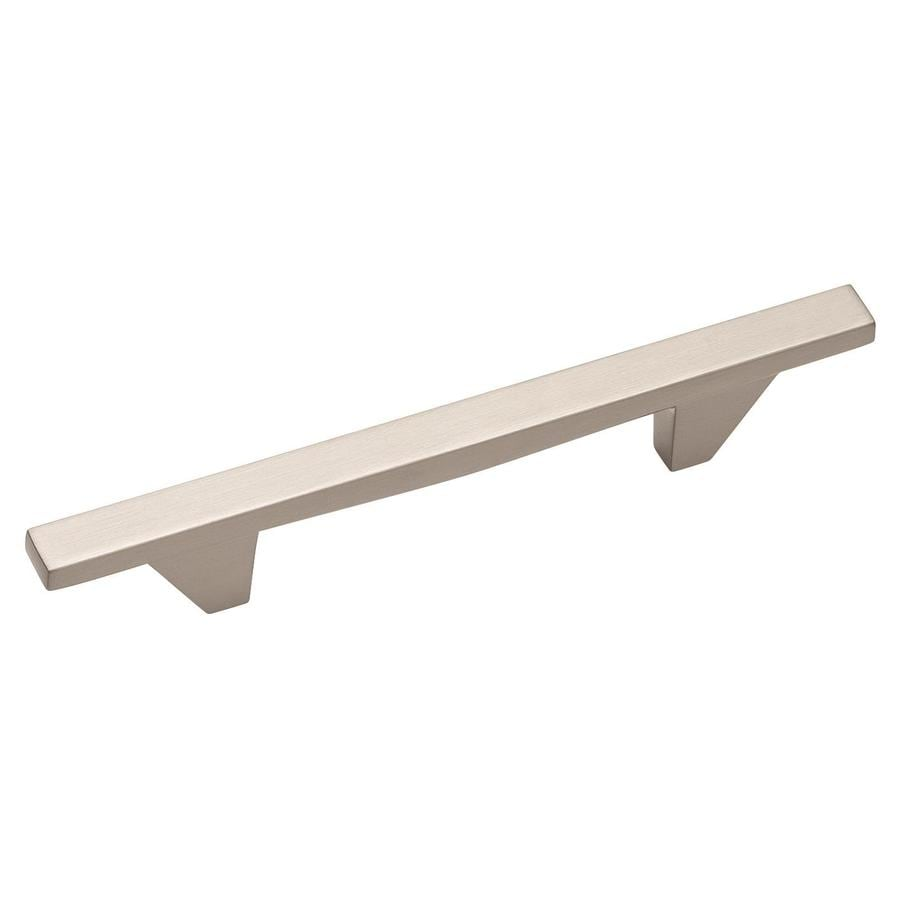 Amerock 96mm Center-To-Center Satin Nickel Sleek Bar Cabinet Pull