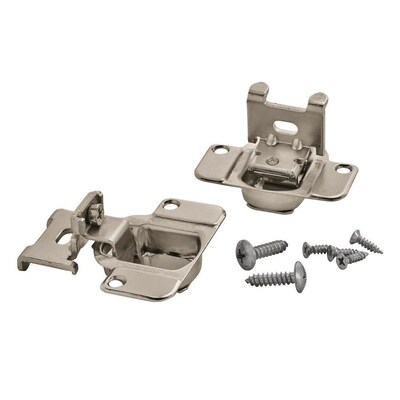 2-Pack 3/8-in Brushed Silver Self-Closing Concealed Cabinet Hinge