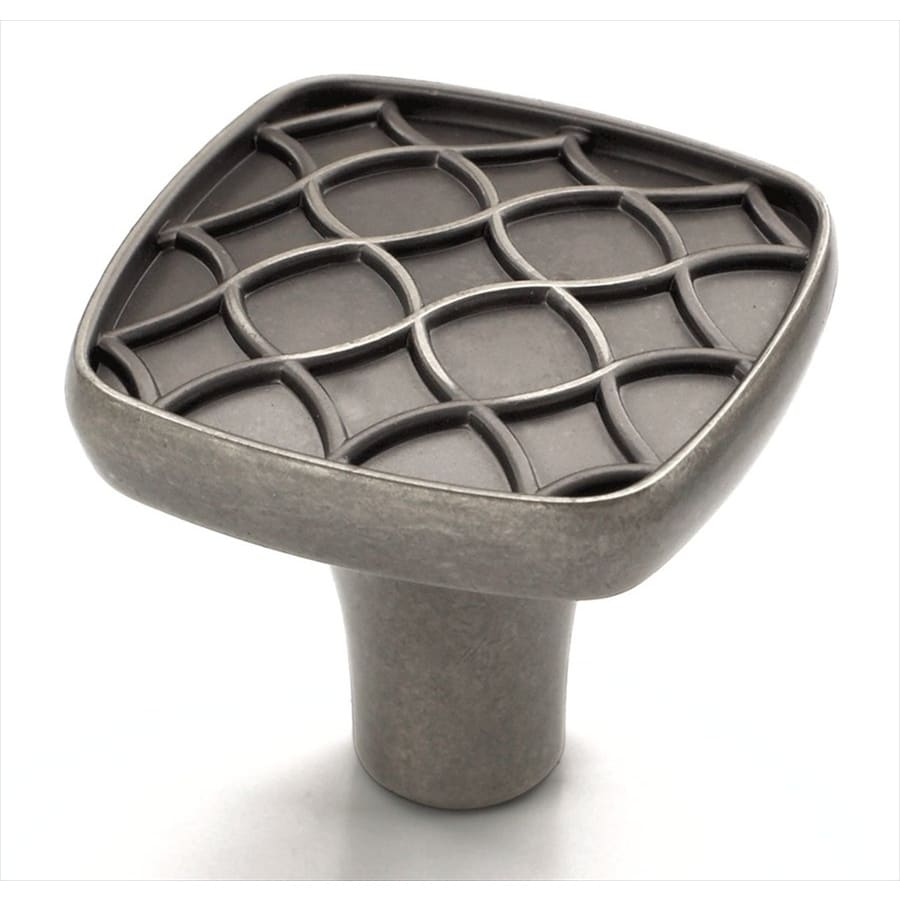 Amerock Marsden Weathered Nickel Square Cabinet Knob
