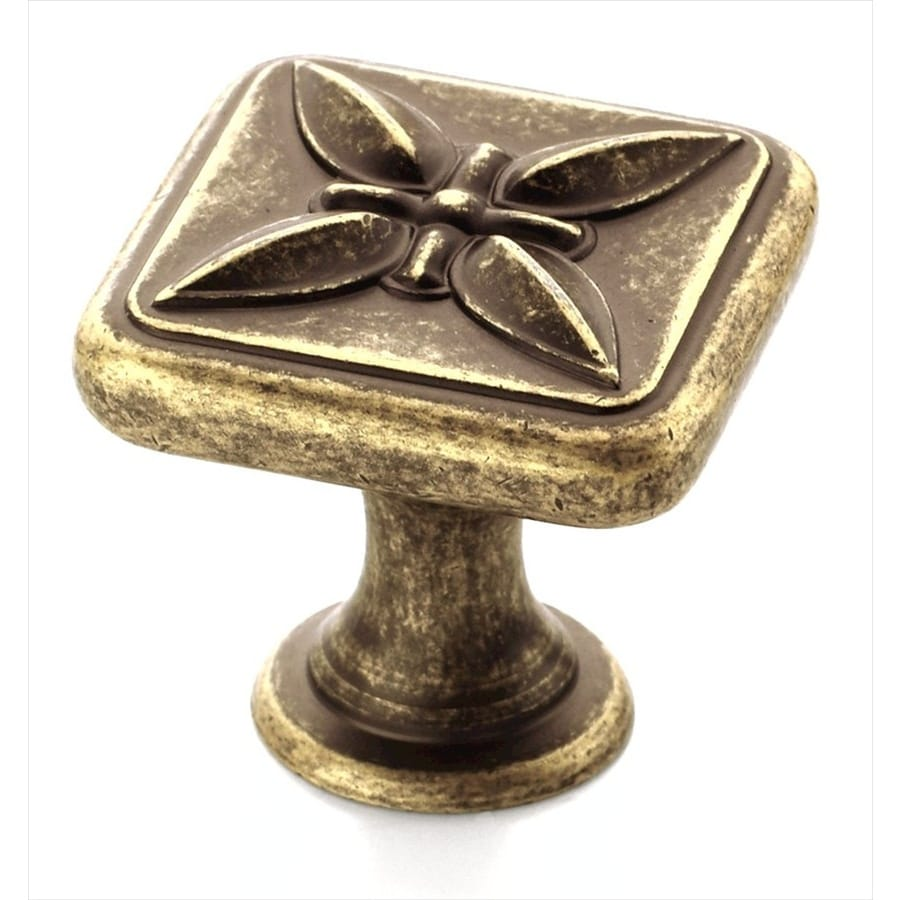 Amerock Sundara Weathered Brass Square Cabinet Knob