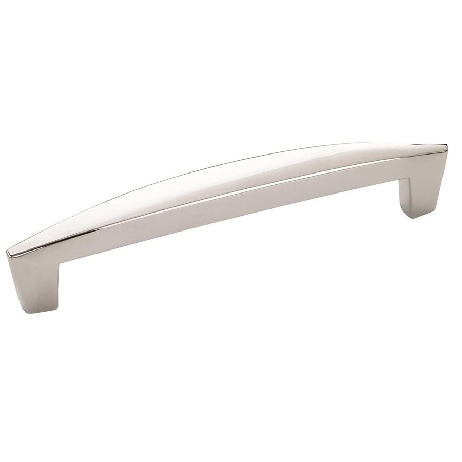Amerock 128mm Center-To-Center Polished Chrome Creased Bow Bar Cabinet Pull